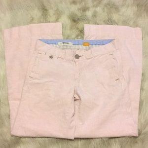 Anthropologie Pilcro Pink Wide Leg Linen Pants 27